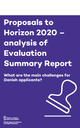Proposals to Horizon 2020 – analysis of Evaluation Summary Reports