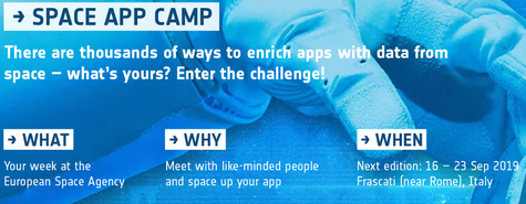 ESA Space App Camp 2019